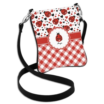Ladybugs & Gingham Cross Body Bag - 2 Sizes (Personalized)