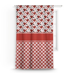 "Ladybugs & Gingham Curtain - 50""x84"" Panel (Personalized)"