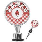 Ladybugs & Gingham Wine Bottle Stopper (Personalized)