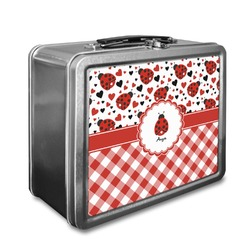 Ladybugs & Gingham Lunch Box (Personalized)