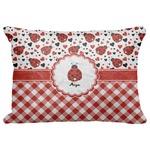 """Ladybugs & Gingham Decorative Baby Pillowcase - 16""""x12"""" (Personalized)"""