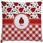 Ladybugs & Gingham Decorative Pillow Case (Personalized)