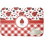 Ladybugs & Gingham Dish Drying Mat (Personalized)
