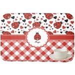 Ladybugs & Gingham Dish Drying Mat (Personalized)