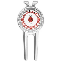 Ladybugs & Gingham Golf Divot Tool & Ball Marker (Personalized)