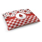 Ladybugs & Gingham Dog Bed (Personalized)