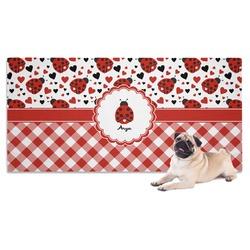 Ladybugs & Gingham Pet Towel (Personalized)