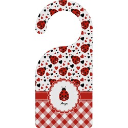 Ladybugs & Gingham Door Hanger (Personalized)