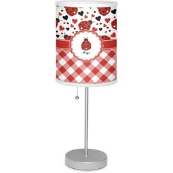 "Ladybugs & Gingham 7"" Drum Lamp with Shade (Personalized)"