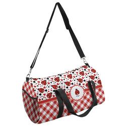 Ladybugs & Gingham Duffel Bag - Multiple Sizes (Personalized)