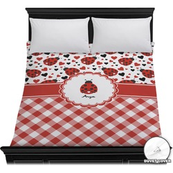 Ladybugs & Gingham Duvet Cover (Personalized)