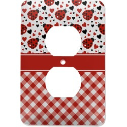 Ladybugs & Gingham Electric Outlet Plate (Personalized)