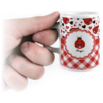Ladybugs & Gingham Espresso Cups (Personalized)