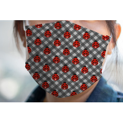 Ladybugs & Gingham Face Mask Cover (Personalized)