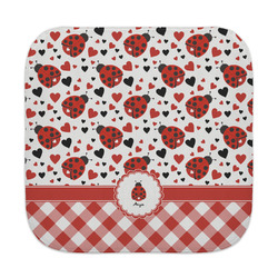 Ladybugs & Gingham Face Towel (Personalized)