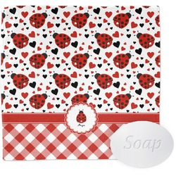 Ladybugs & Gingham Wash Cloth (Personalized)
