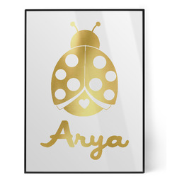 Ladybugs & Gingham Foil Print (Personalized)