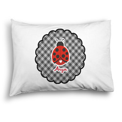Ladybugs & Gingham Pillow Case - Standard - Graphic (Personalized)