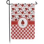 Ladybugs & Gingham Garden Flag - Single or Double Sided (Personalized)