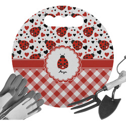 Ladybugs & Gingham Gardening Knee Cushion (Personalized)