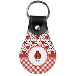 Ladybugs & Gingham Genuine Leather  Keychains (Personalized)