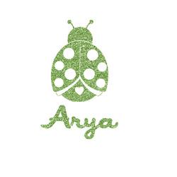 "Ladybugs & Gingham Glitter Iron On Transfer - Up to 15""x15"" (Personalized)"