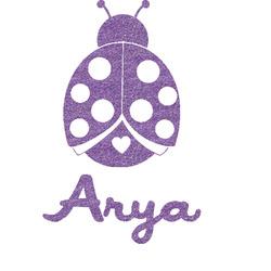Ladybugs & Gingham Glitter Sticker Decal - Custom Sized (Personalized)
