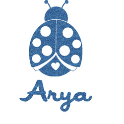 Ladybugs & Gingham Glitter Sticker Decal - Custom Sized (Personalized)