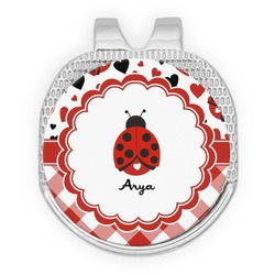 Ladybugs & Gingham Golf Ball Marker - Hat Clip