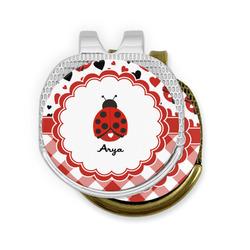 Ladybugs & Gingham Golf Ball Marker - Hat Clip