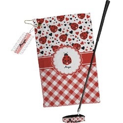 Ladybugs & Gingham Golf Towel Gift Set (Personalized)