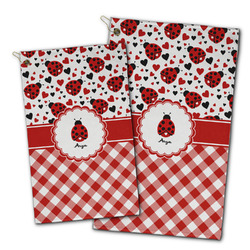 Ladybugs & Gingham Golf Towel - Full Print w/ Name or Text