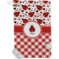Ladybugs & Gingham Golf Towel - Full Print (Personalized)