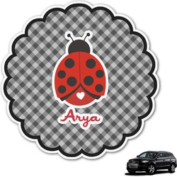 Ladybugs & Gingham Graphic Car Decal (Personalized)