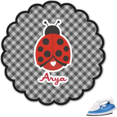 Ladybugs & Gingham Graphic Iron On Transfer (Personalized)
