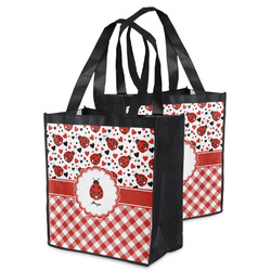 Ladybugs & Gingham Grocery Bag (Personalized)