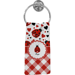 Ladybugs & Gingham Hand Towel - Full Print (Personalized)