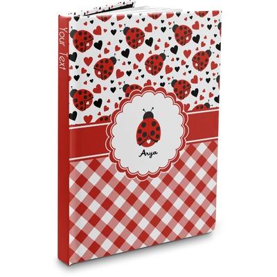 Ladybugs & Gingham Hardbound Journal (Personalized)
