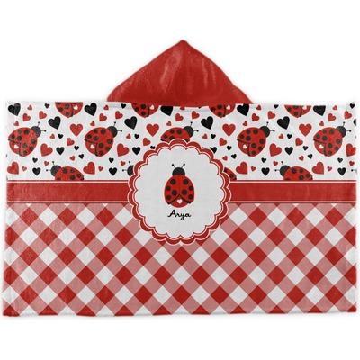 Ladybugs & Gingham Kids Hooded Towel (Personalized)