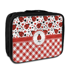 Ladybugs & Gingham Insulated Lunch Bag (Personalized)