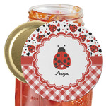 Ladybugs & Gingham Jar Opener (Personalized)