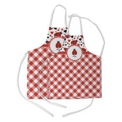 Ladybugs & Gingham Kid's Apron w/ Name or Text