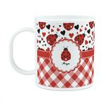 Ladybugs & Gingham Plastic Kids Mug (Personalized)