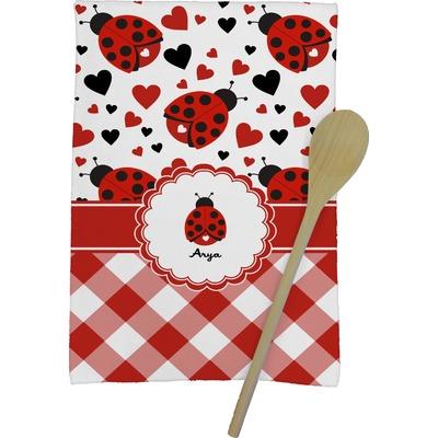 Ladybugs & Gingham Kitchen Towel - Full Print (Personalized)