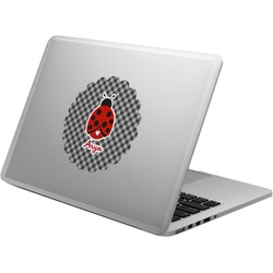 Ladybugs & Gingham Laptop Decal (Personalized)