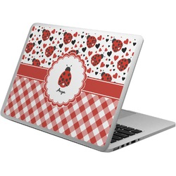 Ladybugs & Gingham Laptop Skin - Custom Sized (Personalized)