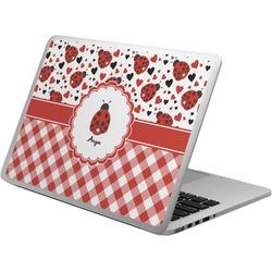 Ladybugs & Gingham Laptop Skin - Custom Sized (Personalized)