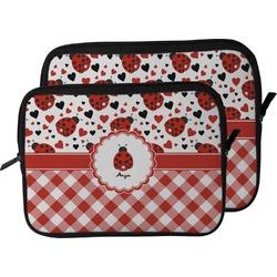Ladybugs & Gingham Laptop Sleeve / Case (Personalized)