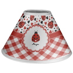 Ladybugs & Gingham Coolie Lamp Shade (Personalized)