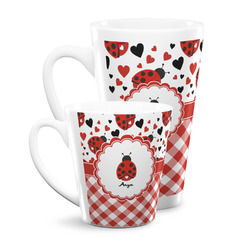 Ladybugs & Gingham Latte Mug (Personalized)